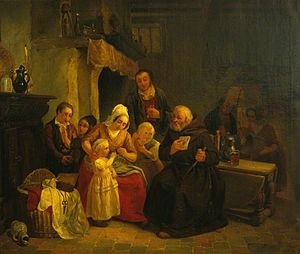 Jan Swerts - Priest giving a child her first lesson