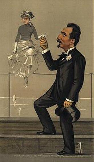 """Jan van Beers (artist) - An 1891 Vanity Fair caricature of Van Beers titled """"The Modern Wiertz"""""""