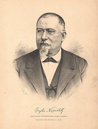 Vojtěch Náprstek - Náprstek in 1885; portrait by Jan Vilímek