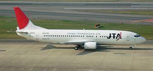Japan Transocean Air - A Japan Transocean Air Boeing 737-400.