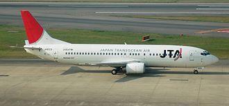 Japan Transocean Air - A former JTA Boeing 737-400