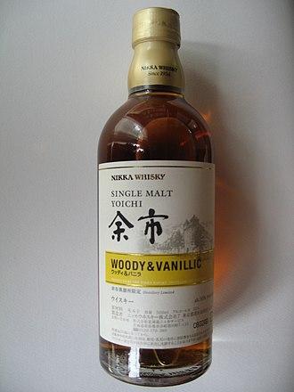 Japanese whisky - Image: Japanese Nikka Whisky Yoichi Woody Vanillic