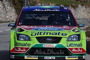 Jari-Matti Latvala driving his Ford Focus RS W...