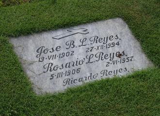 J. B. L. Reyes - Grave of J.B.L. Reyes and his wife, Rosario