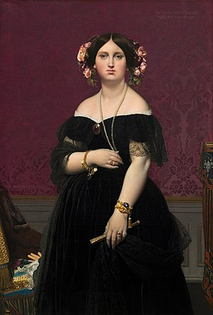 Madame Moitessier - 1851 standing portrait (National Gallery of Art, Washington, D.C.)