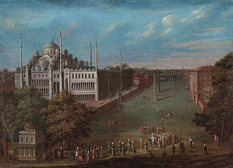 Jean Baptiste Vanmour - The Grand Vizier is crossing the Atmeydan Square