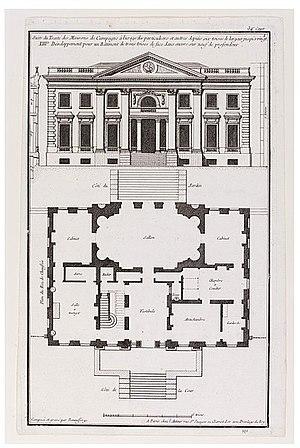 Jean-François de Neufforge - Image: Jean François de Neufforge Facade and floor plan
