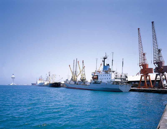 Jeddah Islamic Port - A general view of the seaport.