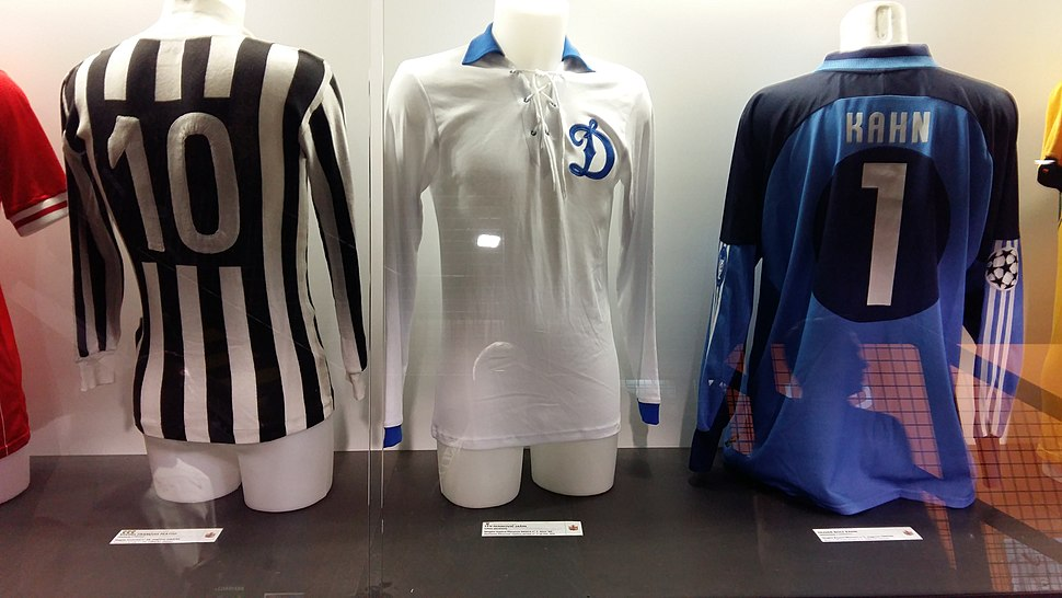 Jerseys of Platini, Yashin & Kahn