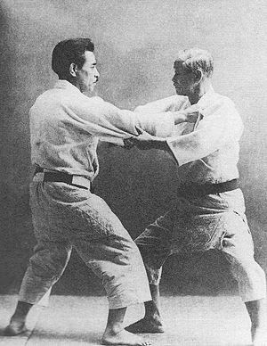 Kyuzo Mifune - Mifune (left) in training with Kanō