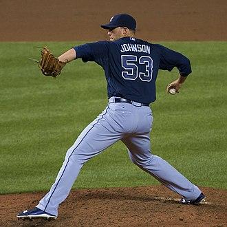 Jim Johnson (baseball, born 1983) - Johnson with the Atlanta Braves in 2015