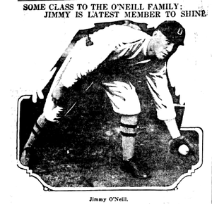 Jim O'Neill (baseball) - Image: Jim O'Neill Utica newspaper