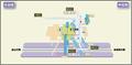 Jingu-Nishi station map Nagoya subway's Meijo line 2014.png