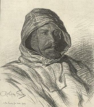 Johan Peter Koch - Johan Peter Koch in 1907. Drawing by Achton Friis