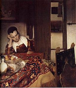 Johannes Vermeer - A Woman Asleep at Table - WGA24609