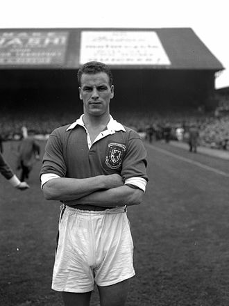 Wales national football team - John Charles on international duty for Wales, against Scotland, 1954