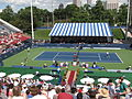 John Isner and Robby Ginepri at the 2009 Indianapolis Tennis Championships 01.jpg