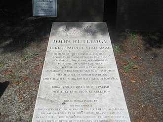 "John Rutledge - ""Jurist, Patriot, Statesman"": The gravestone of John Rutledge at St. Michael's Episcopal Church in Charleston, South Carolina"