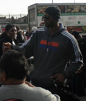 John Wallace (basketball) - Wallace participating in Hurricane Sandy relief in Rockaway, Queens