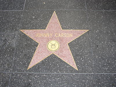Johnny Carson's star on the Hollywood Walk of Fame Johnny Carson - TV.jpg