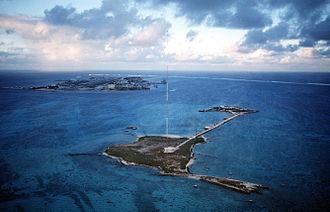 Johnston Atoll - Sand Island and former U.S. Coast Guard LORAN Station