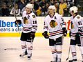 Jonathan Toews Patrick Sharp, and Brian Campbell (5441805711).jpg