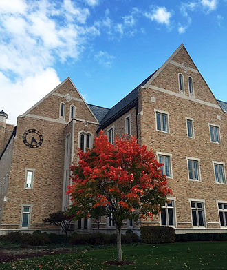 Notre Dame College of Science - Jordan Hall, built in 2007, houses the administrative offices of the College of Science, including the Dean's Office.