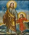 Josef mit dem Jesusknaben Hinterglasbild Italien um 1800.jpg