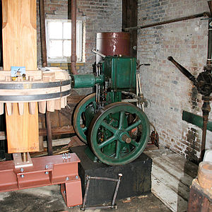 De Groene Molen, Joure - The Lister engine