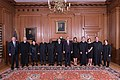 Justices with the President, First Lady, Mrs. Kavanaugh, and Retired Justice Kennedy.jpg