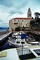 K00 140 Korčula Stadt, Hafen am Dominikanerkloster.jpg