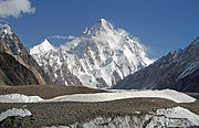 K2 at 8,611 metres (28,251 ft) is the second highest peak in the world.