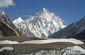 Geography of Pakistan - K2, at 8,619 metres (28,251 ft), is the world's second highest peak