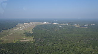 Gainesville Regional Airport - Aerial view of Gainesville Regional Airport from the east in 2010.