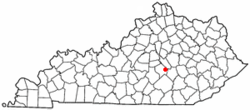 Location of Crab Orchard, Kentucky