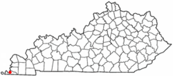 Location of Hickman, Kentucky