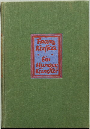 A Hunger Artist (short story collection) - 1st German ed. cover