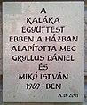 Kaláka plaque Bp06 Andrássy41.jpg