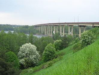 Zashchitnaya Bay - Image: Kalininsky Bridge