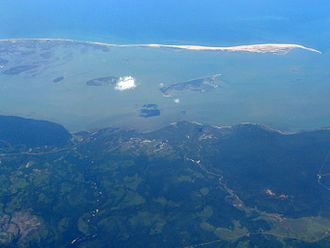 Puttalam Lagoon - Aerial view of the northern-half of the lagoon.