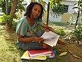 Kamau Mahakoe novelizes in a garden.jpg