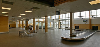 Kamloops Airport - The arrivals area of the Kamloops Airport, which is situated in the Brocklehurst neighbourhood of the city.