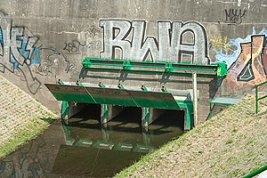 Culvert - A culvert under the Vistula river levee and a street in Warsaw.