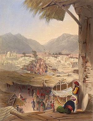 Durrani Empire - City of Kandahar, its principal bazaar and citadel, taken from the Nakkara Khauna
