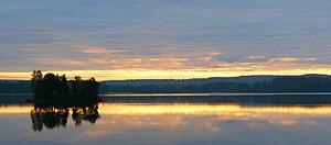Jämsä - Image: Kankarisvesi Jämsä aamukuva 230709