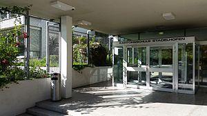 Kantonsschule Stadelhofen - lower entrance of the Stadelhofen college