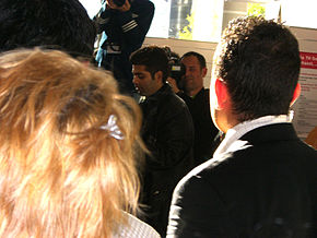Karan Johar among fans and journalists on October 7th, 2006 at the Frankfurt Book Fair