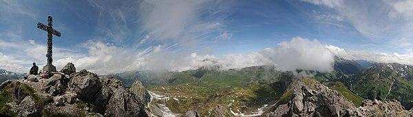 Karhorn Gipfel Panorama