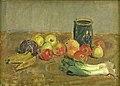 Karl Isakson - Still Life. Apples, Leeks, Bananas and Green Jar - KMS6934 - Statens Museum for Kunst.jpg