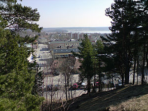 Karlskoga - View of Karlskoga seen from the west in April 2008